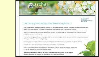 archer counselling web site