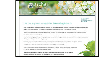 archer therapy website design